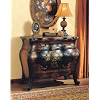 ACME Roma Antique Black and Oak Bombay Chest