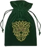 Find Something Different Unisex-Child Green Man Tarot Bag Luxury Velvet 180 X 130Mm Purse