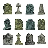 JOYIN Set of 12 Miniature Tombstones for Halloween Decorations