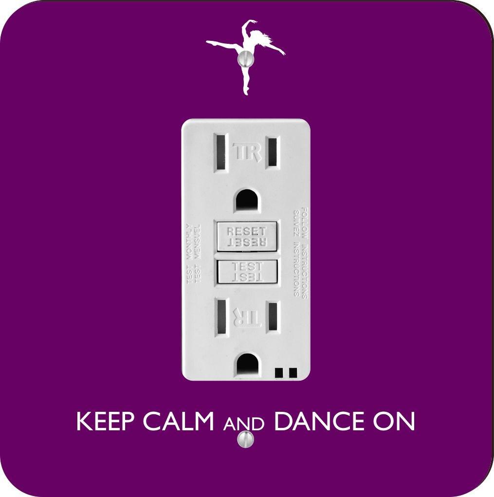 【在庫あり】 Rikki Dance Knight Keep Rikki Calm and and Dance on-purpleカラーシングルGFIライトスイッチプレート B00GCV74JQ, BLUE WING ブルーウイング:fb26e068 --- svecha37.ru