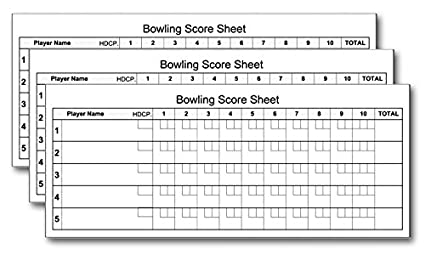 graphic relating to Printable Bowling Score Sheet known as Bowling Rating Pads (3-Pack) 3.5\