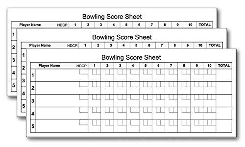 (Bowling Score Pads (3-Pack) 3.5