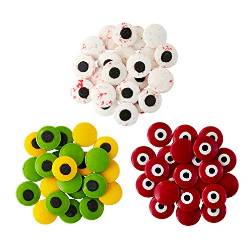 Wilton Halloween Candy Eyeball Sprinkles Set, 3-Piece -