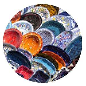 alfombrilla de ratón mercados tradicionales cerámicas de Túnez Túnez - ronda - 20cm