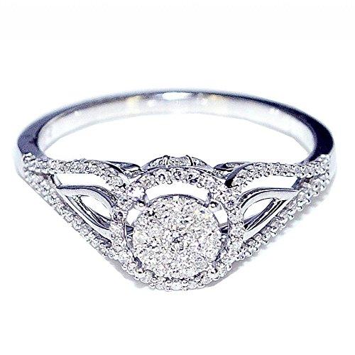 Diamond Vintage Engagement Bridal 0 25cttw product image