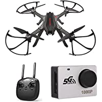 Amazingbuy FPV Racing Drone, MJX Bugs 3H B3H 2.4G 6-Axis Gyro Brushless Motor RC Drone Auto-Stabilized/Semi-Stabilized Mode Switching/360 Degree Flip Quadcopter (With MJX 1080P C6000 Camera)