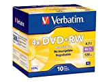 Verbatim DVD+RW 4.7GB 4X Surface - 10pk Jewel Case