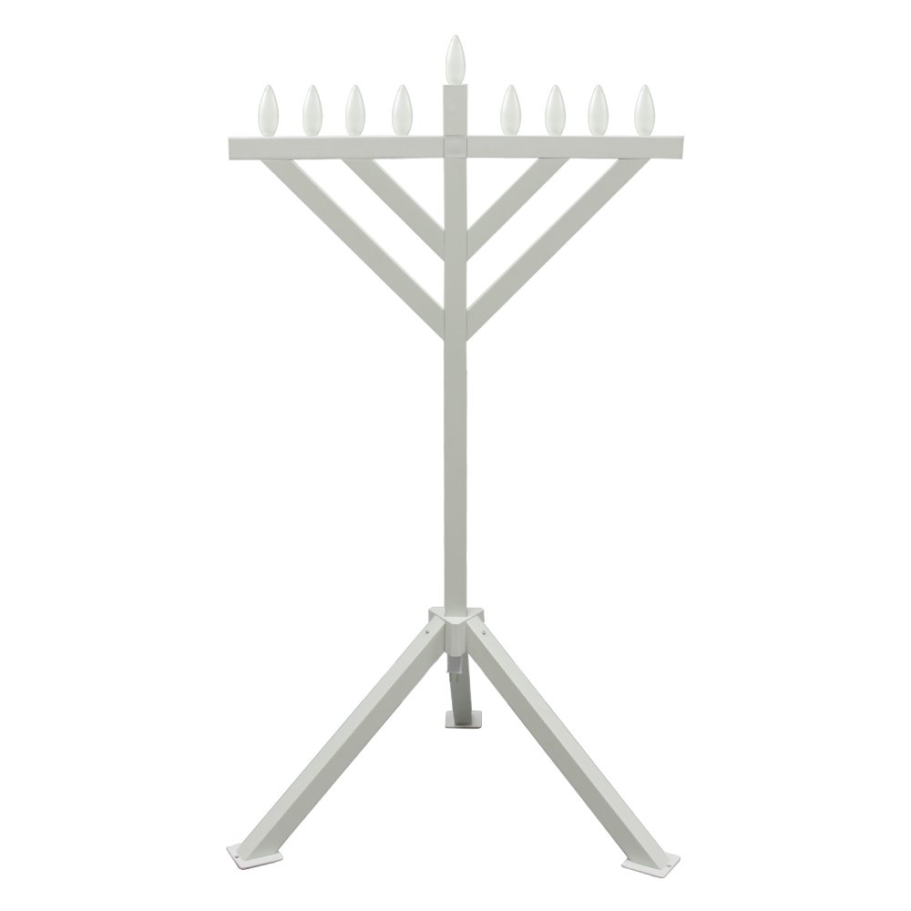 Zion Judaica Electric Menorah PVC Indoor / Outdoor Use - 52'' Tall by Zion Judaica Ltd