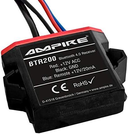 AMPIRE Bluetooth Receiver mit Auto-Remote, Wasserdicht, 3.5mm Klinke - BTR200