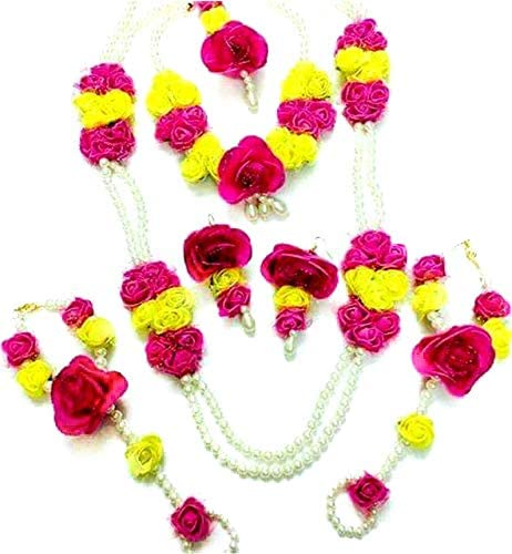 Amazon Com Floret Jewellery Pearl Pink Yellow Flower Jewellery