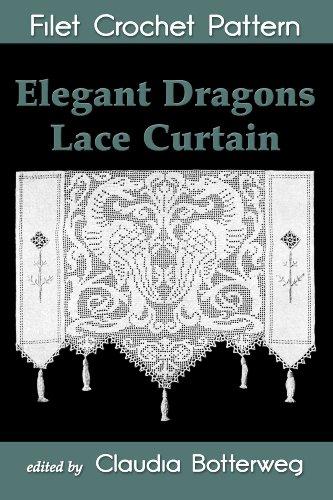 Elegant Dragons Lace Curtain Filet Crochet Pattern Complete