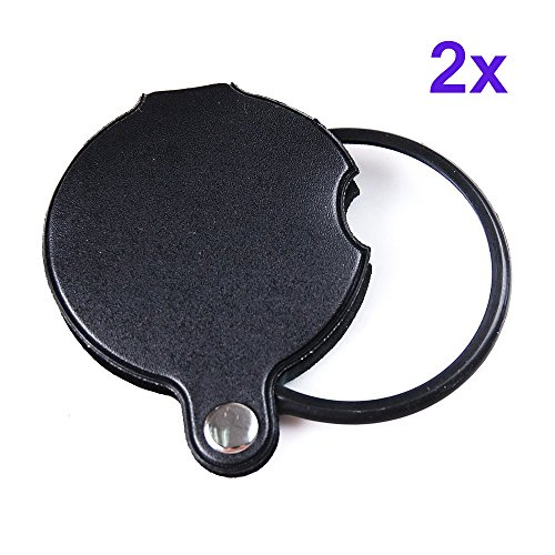 60mm Magnifiers (Magnifier Pocket Folding Magnifying Glass Loupe Pocket Spiegel 5X 60mm (2x))