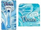 Gilletté Venus Womens Razor Refill Cartridges 9 Count and 1 Razor Handle