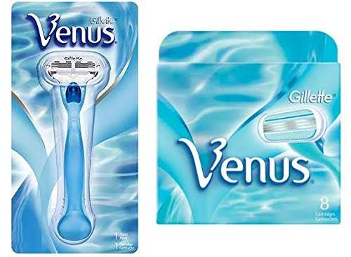 Gilletté Venus Womens Razor Refill Cartridges 9 Count and 1 Razor Handle
