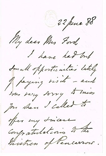 AUTOGRAPH LETTER SIGNED ON HOUSE OF COMMONS LETTERHEAD, and manuscript leaf from his novel
