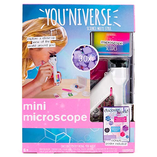 (YouNiverse Mini Microscope by Horizon Group Usa, Stem Science Kit, Includes 1 Microscope, 5 Prepared Slides, 6 Blank Slides & More)