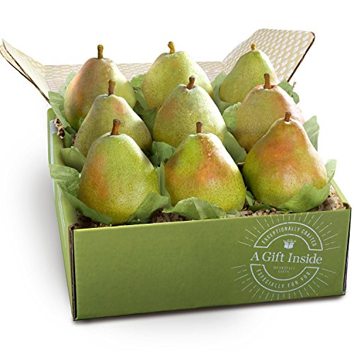 Golden State Pears - Golden State Fruit Imperial Comice Pears Deluxe Fruit Gift Box