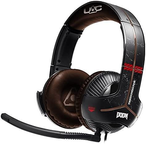 Thrustmaster Y-350X DOOM EDITION - Auriculares - XboxOne / PC - Sonido 7.1 - Micrófono con discriminación de voz, desmontable y ajustable