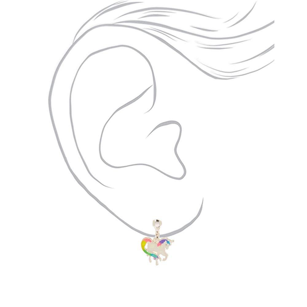 Amazon.com: Claires - Pendientes de unicornio iridiscente ...