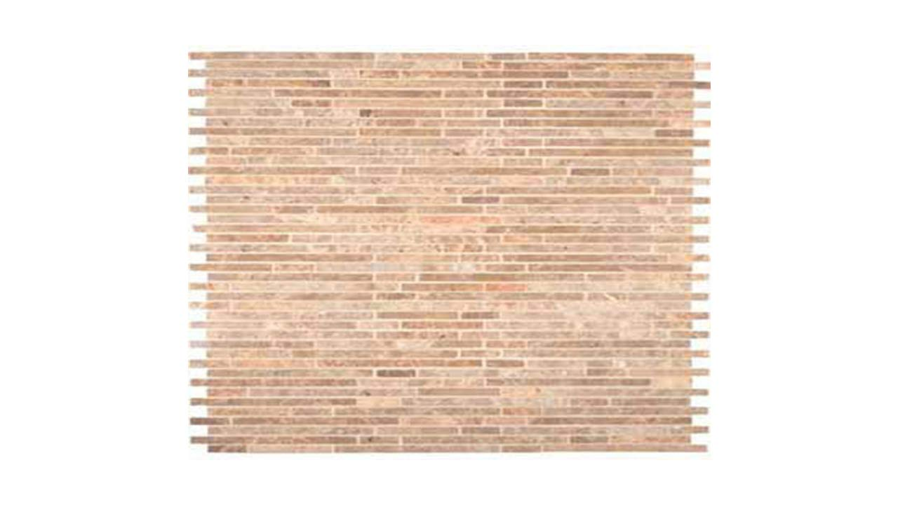 MS International Crema Ivy Bamboo Stone Pattern 12 in. x 12 in. Mosaic Polished Marble Floor and Wall Tile - BOX OF 5 TILES