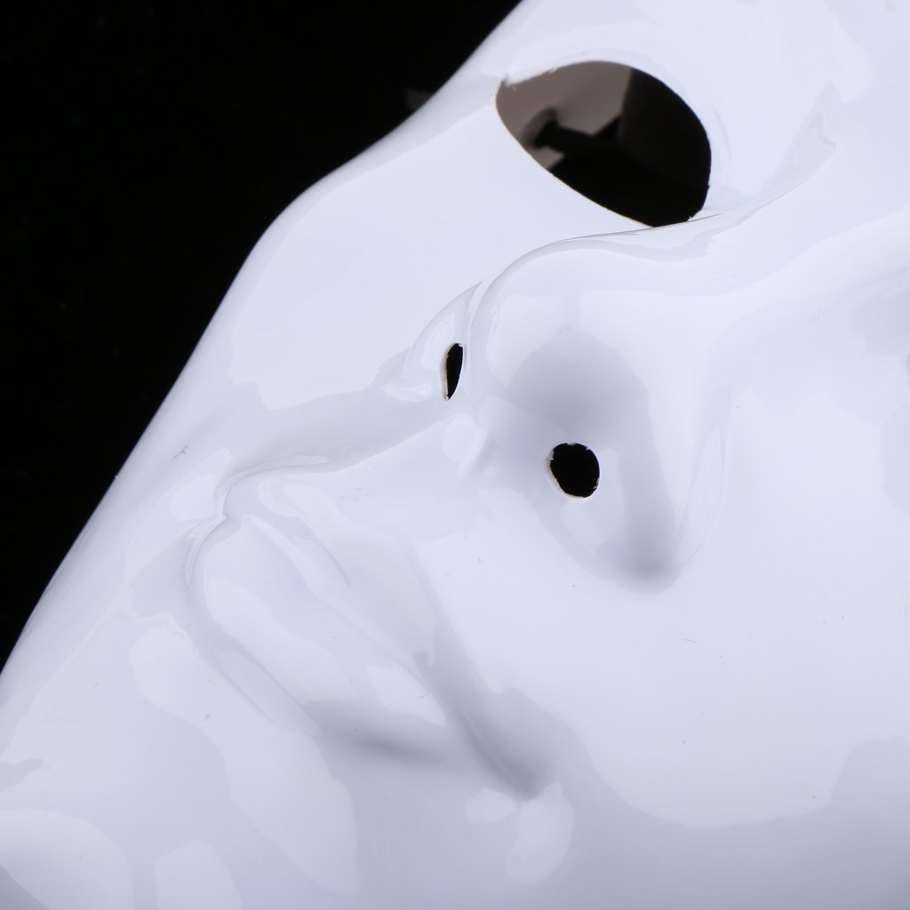 MonkeyJack Plastic White Full Masks Craft Decorating Craft Halloween School Prom