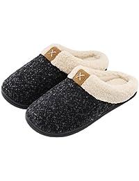Women's Comfort Memory Foam Slippers Wool-Like Plush...