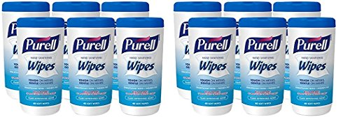 PURELL Hand Sanitizing Wipes - Clean Refreshing Scent, Non-Alcohol Wipes, 40 Count Canisters - 6 pack (Packaging may vary) (2 Case of 6 ()