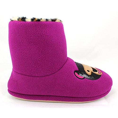 Kensie Womens Boot Tøfler Bære Lilla