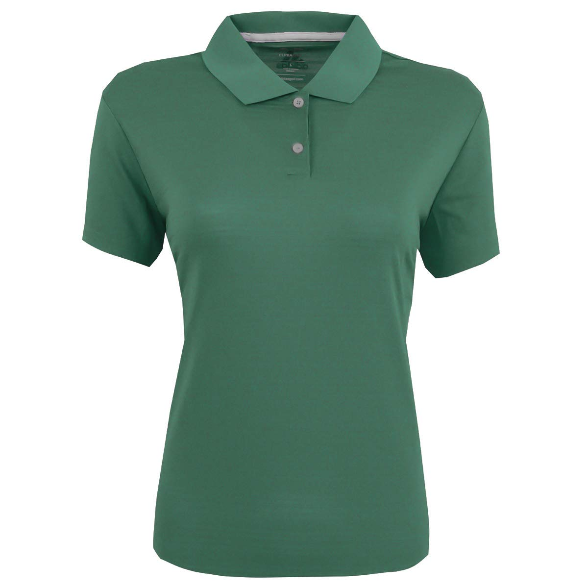 adidas Golf Womens Climalite Textured Short-Sleeve Polo (A162) -Forest -S