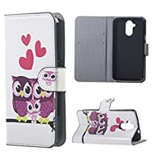 ANGELLA-M Acer Liquid Z410 Wallet Case - Acer Liquid Z410 Case -Card Slot - Fold Stand -Bookstyle PU Leather Flip Case (Cute Owl)