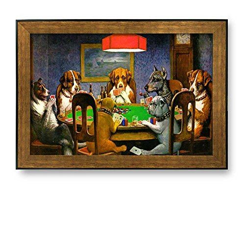 wall26 Framed Art Prints - A Friend in Need (Dogs Playing Poker) by C.M. Coolidge - Famous Painting Wall Decor - 24