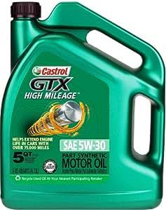 Castrol 03102 Gtx High Mileage 5w 30 Motor Oil