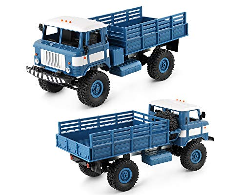 Cross Country Vehicle - Watchmentoys WPL 1/16 Camion 2.4G 6WD RC Car Military Truck Cross Country Vehicle (Blue)