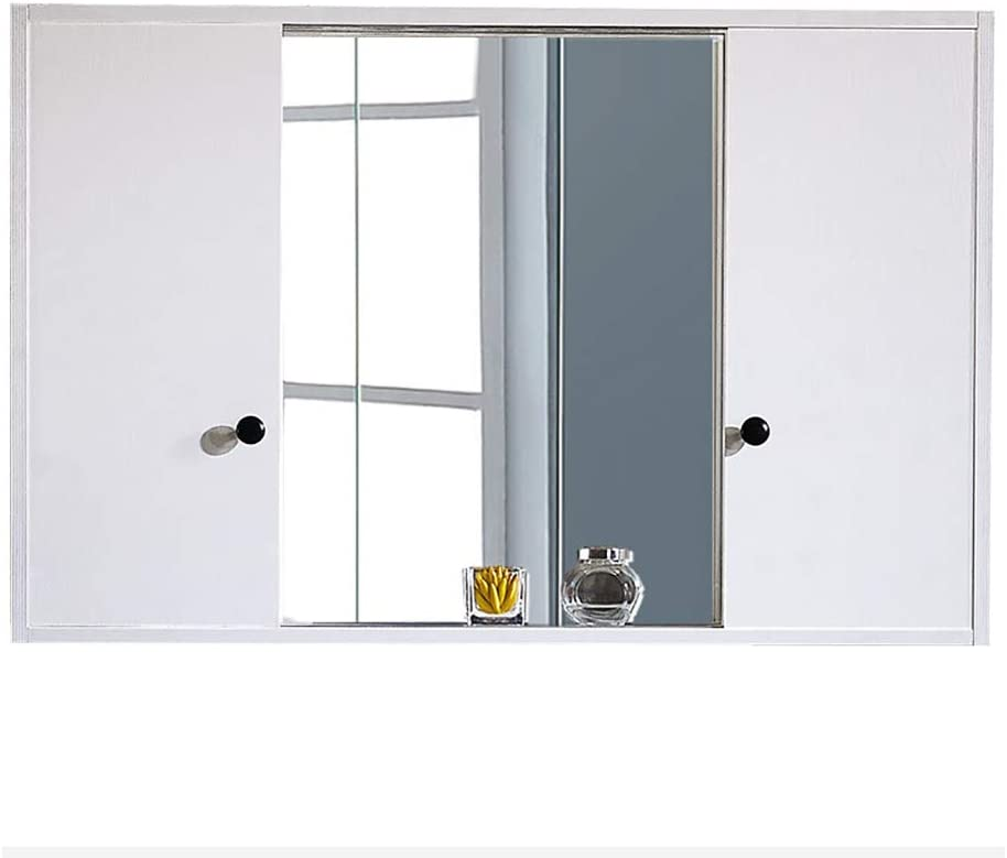 Gabinete de Espejo con Puerta corredera para baño, gabinete de Pared para baño, Organizador de Almacenamiento de ...