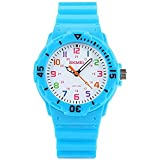 Kids Time Teacher Watch Two Display Modes Colourful Numbers Boys Girls Children Watch - Blue