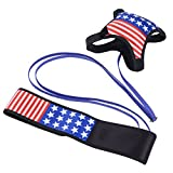 LuxSports Easy-Goal Soccer Trainer, Hands Free Solo Soccer Ball Trainer – Fits Ball Size 3, 4, and 5 (Star-Stripe)
