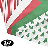 Classic Gift Wrapping Tissue Paper Set - 120 Sheets - Patterned and Solid Color