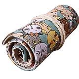 36 Holes Canvas Wrap Roll-up Pencil Case Pen Bag Brush Storage Pouch Pet Cat