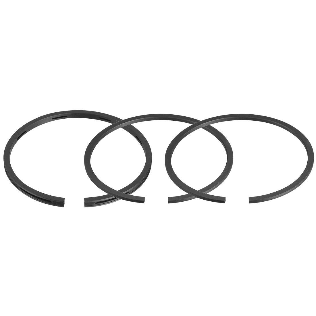 uxcell/® Air Compressor Parts 65mm Diameter Piston Rings 3 Pcs