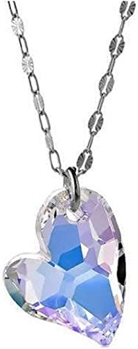 Multicolor gemstone necklace with sterling silver heart charm