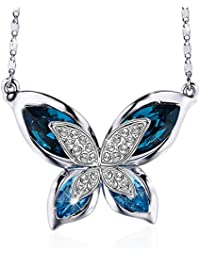 SIVERY 'Butterfly' Women Necklace Jewelry with New...