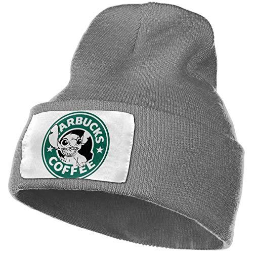Enghuaquj Lilo and Stitch Starbucks Coffee Logo Knitted Hat Cap Beanie Deep Heather