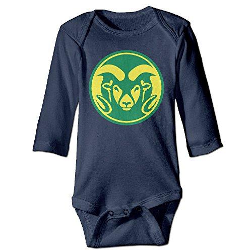 ElishaJ University Of Miami Babys Long Sleeve Bodysuit Baby Onesie Navy Size 6 - Miami Free Duty