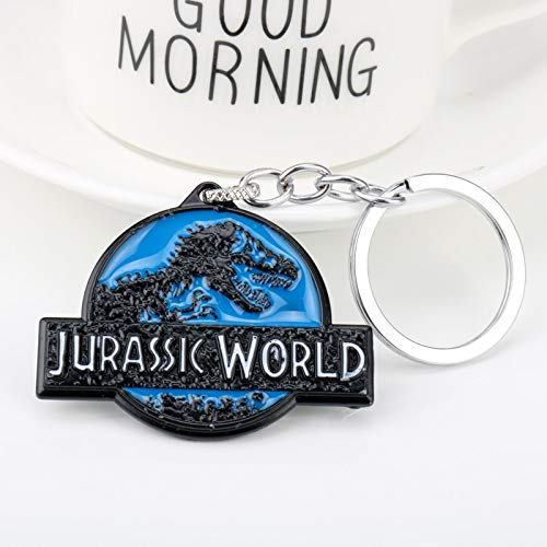 TUDUDU Hot Movie Jurassic Park Logo Metal Colgante Llavero ...