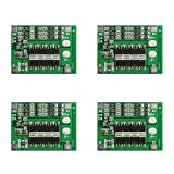 Areyourshop 4× 3S 11.1V 25A W/Balance Li-ion Lithium 18650 Battery BMS PCB Protection Board