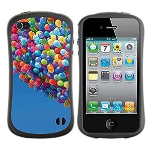 "Pulsar iFace Series Tpu silicona Carcasa Funda Case para Apple iPhone 4 / iPhone 4S , Globos Hasta Cielo historieta del verano azul"""