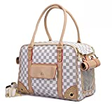 Betop House Pet Carrier Tote Around Town Pet Carrier Portable Dog Handbag Dog Purse for Outdoor Travel Walking Hiking, White, 15.75''*11.81''*7.87''