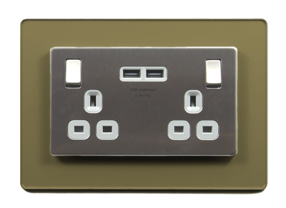 Double Light Switch Surround Acrylic Finger Plate Plug Socket - 59 COLOURS – 25% OFF WHEN YOU BUY 2 OR MORE Plastic Online Ltd