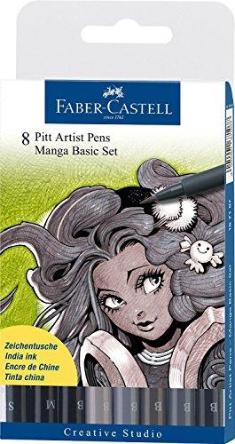 Faber Castell Pitt Manga Set - Blacks/Greys (Pitt Manga)