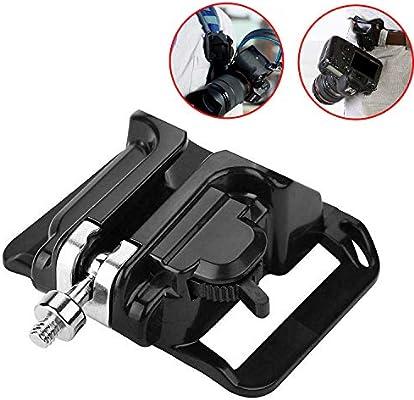 Camera Waist Belt Buckle Straps Hanging Clip Holder Holster For SLR DSLR Black